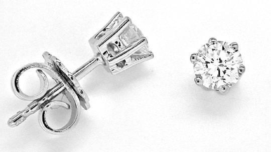 Foto 1, Brillant Ohrringe, Diamant Ohrstecker 0,60ct VS1 Luxus!, S6971