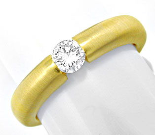 Foto 1 - Brillant Spann Ring 18K GG 0,29ct River VS1 Luxus! Neu!, S6976