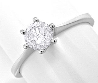 Foto 1 - Brillant Diamant Krappen Ring 0,51ct Tw F SI Luxus! Neu, S6978