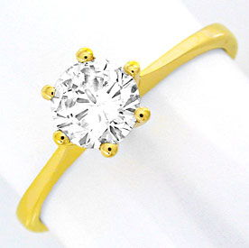 brillantring diamant 0 58ct river si1 18k gg luxus neu s6980. Black Bedroom Furniture Sets. Home Design Ideas