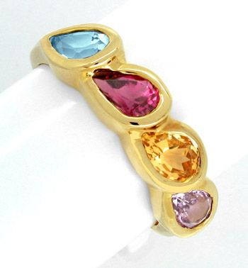 Gold Ring Gold Armband Viele Top Edelsteine Luxus Neu S7490