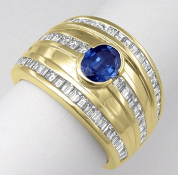 Foto 2 - Neu! einmalig! Top Diamant Safir Ring 18K massiv Luxus!, S7578