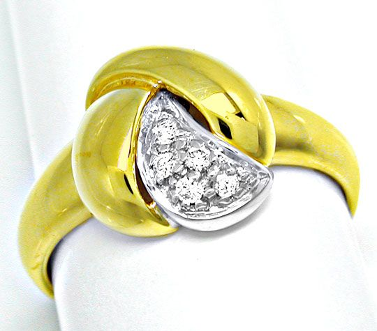 Foto 2 - Neu! Brillanten Ring, Top Design! 14K/585 Bicolor! Shop, S8243