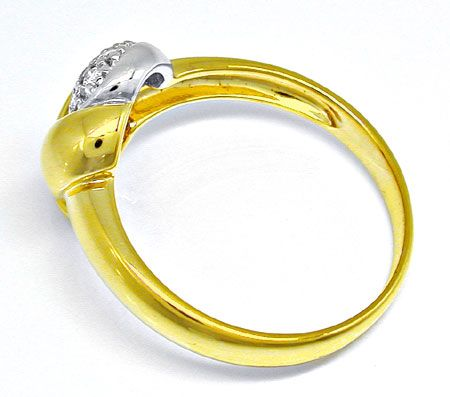 Foto 3 - Neu! Brillanten Ring, Top Design! 14K/585 Bicolor! Shop, S8243