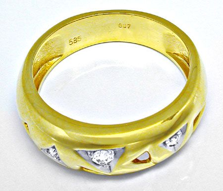 Foto 3, Designer Brillant Ring River 14K/585 Bicolor Shop Neu!!, S8246