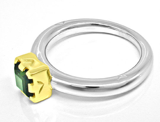 Foto 3, Turmalin Designer Ring massiv Bicolor 14K/585 Shop Neu!, S8347