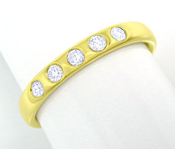 Foto 1, Memory Brillanten Ring, 14K massiv Gelbgold, Shop Neu!!, S8373