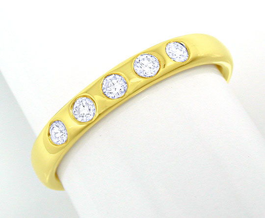 Foto 2 - Memory Brillanten Ring, 14K massiv Gelbgold, Shop Neu!!, S8373