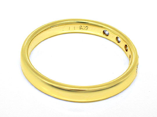 Foto 3, Memory Brillanten Ring, 14K massiv Gelbgold, Shop Neu!!, S8373
