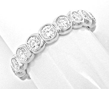 Foto 1 - Brillant Vollmemory Ring 2,3ct River 18K Wg Luxus! Neu!, S8374