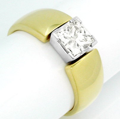 Foto 1, Diamant Ring 1,13ct Princess Cut Handarbeit Luxus! Neu!, S8386