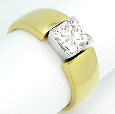 Foto 1, Diamant-Ring 1,13ct-Princess-Cut Handarbeit Luxus! Neu!, S8386