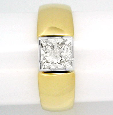 Foto 2, Diamant Ring 1,13ct Princess Cut Handarbeit Luxus! Neu!, S8386
