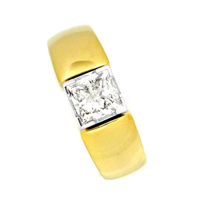 Diamant Ring 1,13ct Princess Cut Handarbeit Luxus! Neu!, Designer Ring