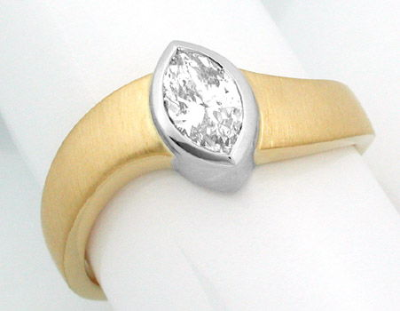 Foto 1, Neu! Topdesigner-Diamantnavette-Ring GG Luxus Portofrei, S8388