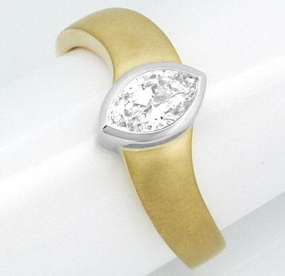 Foto 2, Neu! Topdesigner-Diamantnavette-Ring GG Luxus Portofrei, S8388