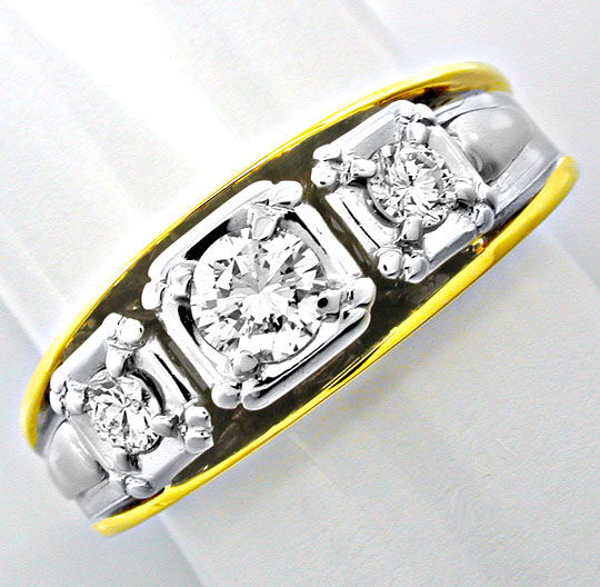 Foto 2 - Neu! Brillant Ring River! Tolles Design! Bicolor Luxus!, S8395