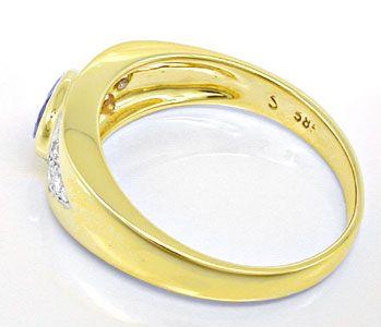 Foto 3, Brillant-Safir-Bandring Gelbgold 14K Shop Top-Erhaltung, S8401