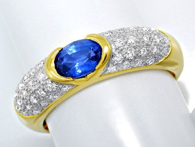 Foto 1 - Brillant Ring River! Lupenrein! Traum Safir! Luxus! Neu, S8402
