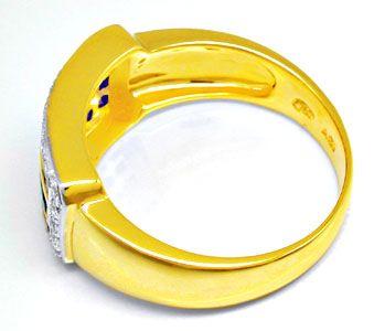 Foto 3, Neu! Traumhafter Topsafir-Brillant-Ring Luxus Portofrei, S8406