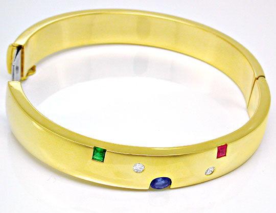 Foto 3, Neu! Brillant-Safir-Rubin-Smaragd-Reif Luxus! Portofrei, S8409