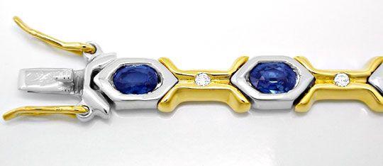 Foto 1, Neu! Brillant-Safir-Armband 18K Bicolor Luxus Portofrei, S8410