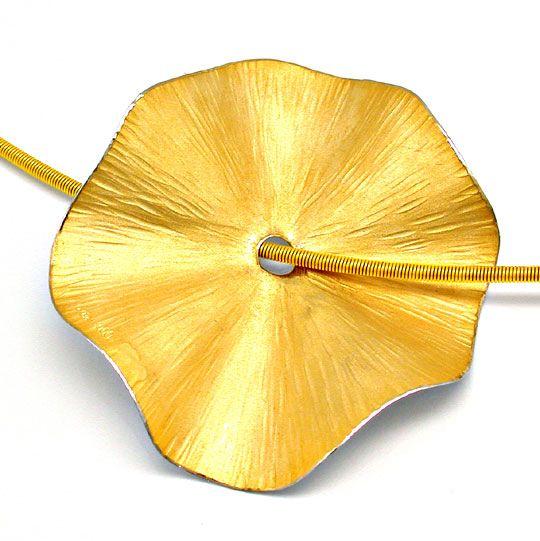 Foto 2, Original Niessing! Platin-Gold-Kollier Wert Shop Neuw.!, S8420