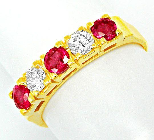Foto 2, Neu! Brillant-Ring, Tolle Spitzenrubine Gelbgold Luxus!, S8430