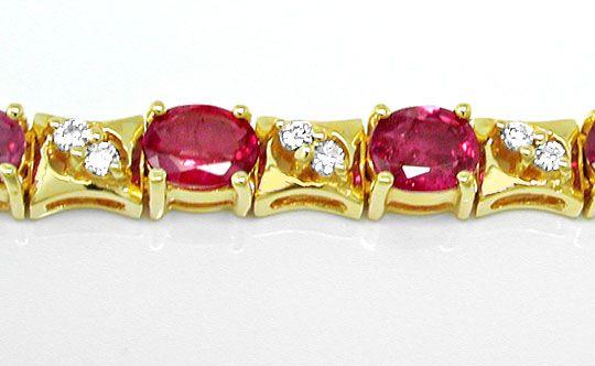 Foto 3, Brillantarmband mit Spitzen-Rubinen Luxus Neu Portofrei, S8431