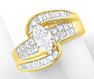 Foto 1, Spitzen-Designer-Diamant-Ring massiv Bicolor Luxus! Neu, S8444