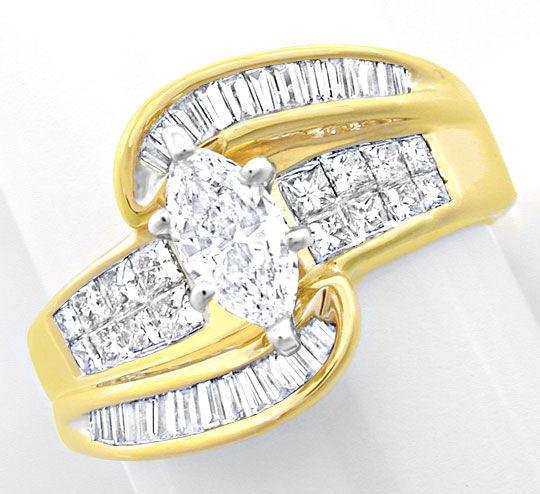 Foto 2, Spitzen-Designer-Diamant-Ring massiv Bicolor Luxus! Neu, S8444