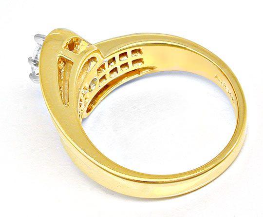 Foto 3, Spitzen-Designer-Diamant-Ring massiv Bicolor Luxus! Neu, S8444