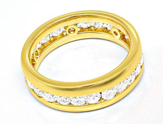 Foto 3, Brillant-Vollmemory-Ring 18K-Gelbgold-Massiv Luxus! Neu, S8447