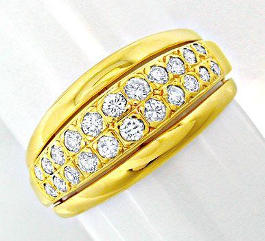 Foto 1, Neu! Top-Moderner Brillant-Ring 18K GG Luxus! Portofrei, S8448