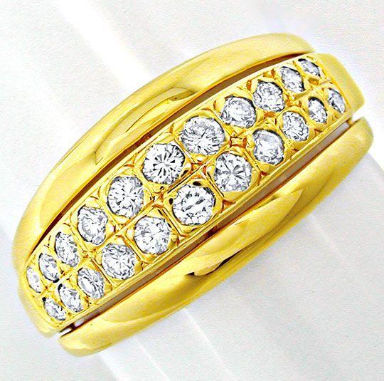 Foto 2, Neu! Top-Moderner Brillant-Ring 18K GG Luxus! Portofrei, S8448