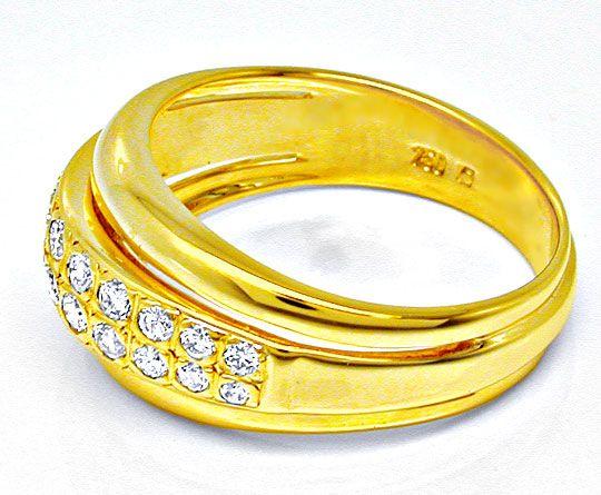 Foto 3, Neu! Top-Moderner Brillant-Ring 18K GG Luxus! Portofrei, S8448