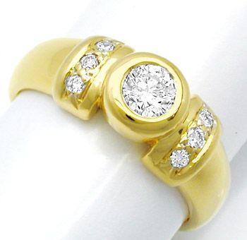 Foto 1, Neu! Top Moderner Brillant Ring River D! 18K/750 Luxus!, S8452