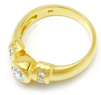 Foto 2, Neu! Top Moderner Brillant Ring River D! 18K/750 Luxus!, S8452