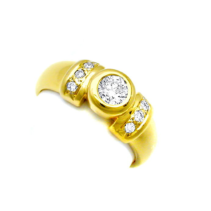 Neu! Top Moderner Brillant Ring River D! 18K/750 Luxus!, Designer Ring