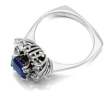 Foto 2, Neu! Wunderschöner Brillant-Ring Top-Safir! 18K! Luxus!, S8454