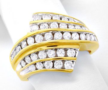 Foto 1, Super Topmoderner Ring, gespannte Brillanten Luxus! Neu, S8456