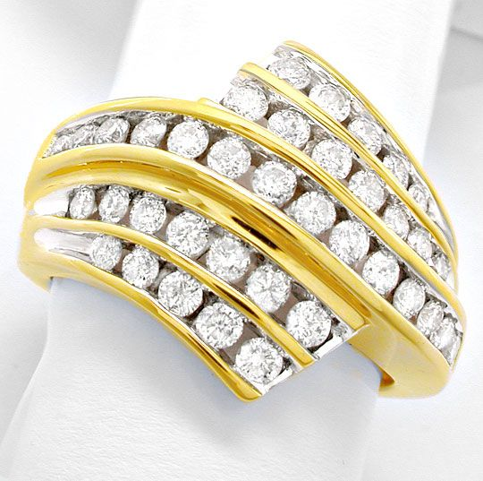 Foto 2, Super Topmoderner Ring, gespannte Brillanten Luxus! Neu, S8456