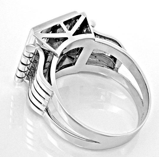 Foto 3, Brillant-Ring Traum-Handarbeit 18K Weissgold Luxus! Neu, S8460