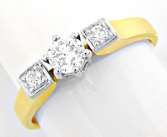 Foto 2 - Top Moderner massiver Brillant Ring Bicolor Luxus! Neu!, S8474