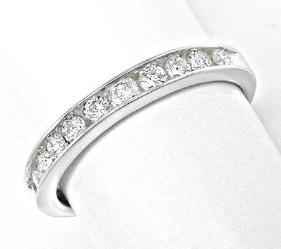 Foto 1, Neu! Platin!! Brillant-Halbmemory-Ring Luxus! Portofrei, S8477