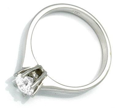 Foto 2, Neu! Brillant-Solitär-Ring 0,53 River-D Luxus Portofrei, S8482