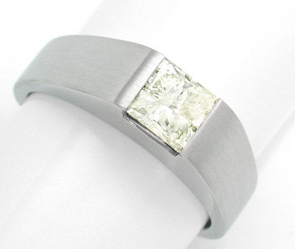 Foto 1 - Solitärring 1,03ct Princess Cut, Handarbeit Luxus! Neu!, S8488