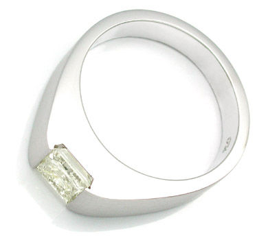 Foto 2, Solitärring 1,03ct Princess-Cut, Handarbeit Luxus! Neu!, S8488