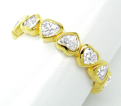Foto 1, Neu! 2ct-Herz-Diamanten!!! Memory-Ring Luxus! Portofrei, S8490