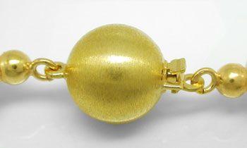Foto 3, -9,5mm Zuchtperlkette Top-Lüster 14K-Goldschloss Luxus!, S8541